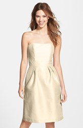 Women's Alfred Sung Strapless Dupioni Dress