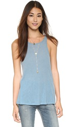 Free People Rib Slub Long Beach Tank Cloud Blue