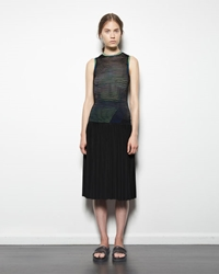 Alexander Wang Accordian Pleated Skirt Black