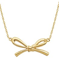 Lord And Taylor 18Kt Gold Bow Pendant Necklace