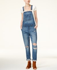 American Rag Juniors' Ripped Cuffed Overalls Only At Macy's Denim