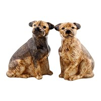 Quail Ceramics Border Terrier Salt And Pepper Shakers