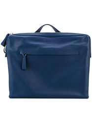 Orciani Classic Laptop Bag Men Leather One Size Blue