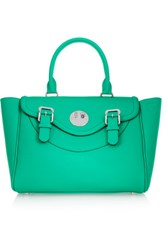 Hill And Friends Happy Satchel Textured Leather Tote Emerald