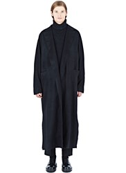 Thamanyah Long Loden Wool Coat Black