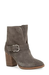Isola Women's 'Lavoy' Block Heel Bootie Steel Grey Suede
