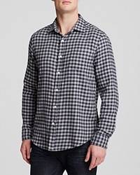 The Men's Store At Bloomingdale's Check Regular Fit Button Down Shirt Navy Light Grey
