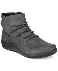 Clarks Collection Women's Cloud Steppers Sillian Chell Booties Women's Shoes Grey
