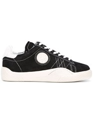 Eytys Lateral Patch Lace Up Sneakers Women Leather Suede Rubber 42 Black