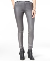 Celebrity Pink Juniors' Coated Ponte Knit Skinny Jeans Iron Gate