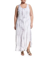 Chelsea And Theodore Plus Tie Dye Maxi Dress Plus Size