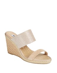 Dune Kaleesi Espadrilles Wedge Sandals Gold