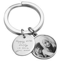 Under The Rose Personalised Message Tag Fob Keyring Large