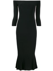 Norma Kamali Off The Shoulder Fishtail Dress Black