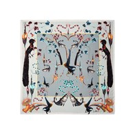 Klements Rainbow Trout Medium Square Scarf Blue