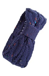 Bp. Marled Cable Knit Ear Warmer Headband Blue Navy Multi