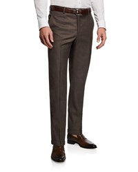 Santorelli 130S Wool Dress Pants Brown