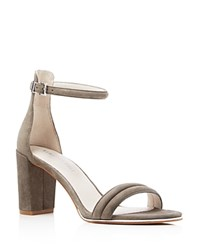 Kenneth Cole Lex Suede Ankle Strap High Heel Sandals Elephant