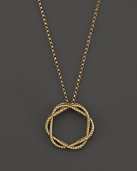 Roberto Coin 18K Yellow Gold Medium Twisted Circle Pendant Necklace 16 Bloomingdale's Exclusive