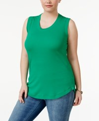 Melissa Mccarthy Seven7 Trendy Plus Size Muscle T Shirt Emerald Green