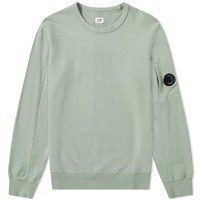 C.P. Company Light Fleece Arm Lens Crew Sweat Green