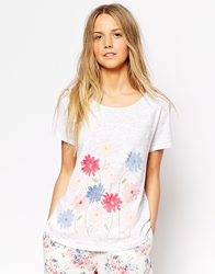 Cath Kidston Daisy Bouquet Printed Cotton T Shirt Daisybouquetwhite