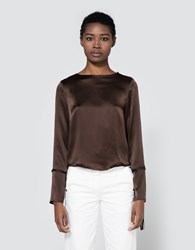 Veda Houdini Blouse Dark Chocolate