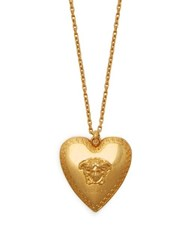 Versace Medusa Heart Pendant Necklace Gold