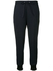 3.1 Phillip Lim Pinstripe Jogger With Piping Blue