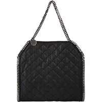Stella Mccartney Women's Quilted Baby Bella Shaggy Deer Tote Black Blue Black Blue