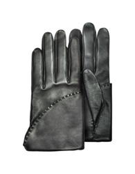 Pineider Women's Black Short Nappa Gloves W Silk Lining