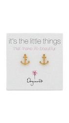 Dogeared Anchor Earrings Gold