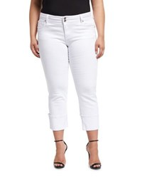 Kut From The Kloth Plus Cameron Wide Cuff Jeans White