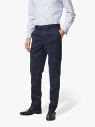 Chester Barrie By Cotton Chinos Navy