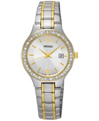 Seiko Women's Special Value Two Tone Stainless Steel Bracelet Watch 27Mm Sur752 Silver
