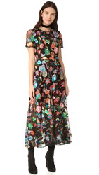Cynthia Rowley Embroidered Tulle Dress Multi