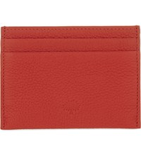 Mulberry Grained Leather Card Holder Fiery Spritz