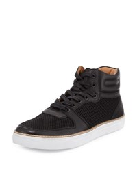 English Laundry Preston Leather Mesh High Top Sneaker Black