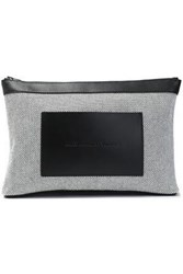 Alexander Wang Leather Paneled Canvas Cosmetic Case White