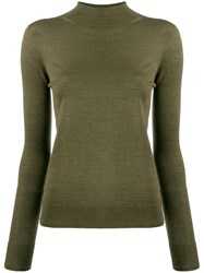 Ermanno Scervino High Neck Jumper Green