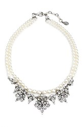 Ben X Ben Amun Women's Faux Pearl And Crystal Collar Necklace