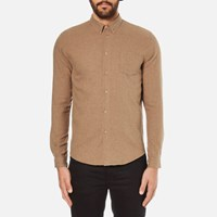 Folk Men's Button Down Long Sleeve Shirt Sand