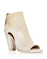Dolce Vita Harem Perforated Open Toe High Heel Booties Sand