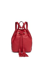 Rebecca Minkoff 'Isobel' Small Drawstring Tassel Leather Backpack Red