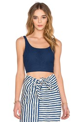 Wayf Cropped Tank Navy