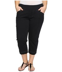 Jag Jeans Plus Size Marion Crop In Bay Twill Black Women's Casual Pants
