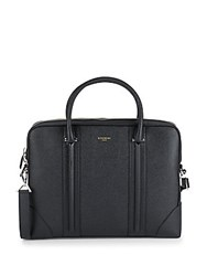 Givenchy Textured Leather Briefcase Black
