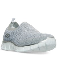 Skechers Women's Relaxed Fit Empire Round Up Walking Sneakers From Finish Line Grey Silver