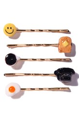 Venessa Arizaga 'Brunch Time' Bobby Pins Set Of 5