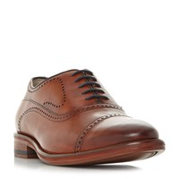 Oliver Sweeney Mallory Toecap Punch Detail Gibson Shoes Tan